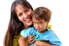 Woman and Boy Stock Photography