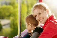 Woman And Boy Happy Family Stock Image