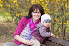 Woman and boy Royalty Free Stock Images