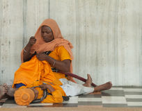 Woman and boy at Sikh Temple Royalty Free Stock Photo