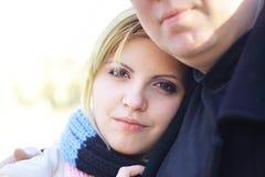 Woman with boyfriend royalty free stock photos