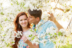 Woman with boyfriend Royalty Free Stock Photography