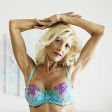 Woman in bra. Stock Photos