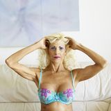 Woman in bra. Royalty Free Stock Photography