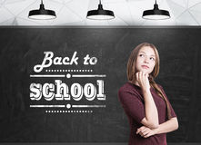 Woman with a braid back to school Stock Image