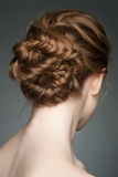 Woman with braid hairdo Stock Photography
