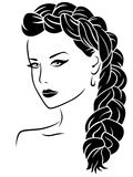 Woman with braid Stock Image