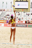 Woman from Brazil play volleyball Stock Images