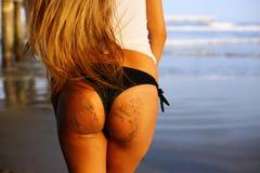 Woman in Brazilian bikini Stock Photo