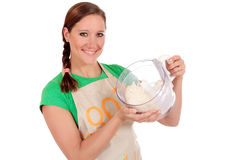 Woman bread dough Royalty Free Stock Photo