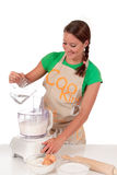 Woman bread dough Royalty Free Stock Photos