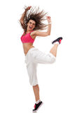 Woman breakdancer screaming Stock Photos