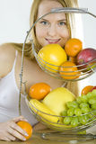 Woman during breakfas Royalty Free Stock Photo
