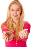 Woman breaking cigarette as a gesture of quitting smoking, break Stock Photography