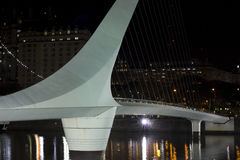 The woman bridge. Buenos Aires, Argentina. Puerto Madero by nigh Royalty Free Stock Photos