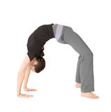 Woman in Bridge Stretching Pose Stock Photography