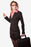 Woman with briefcase Royalty Free Stock Images