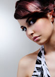 Woman with bright fashion make-up Royalty Free Stock Photo