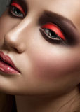 Woman with bright fashion makeup Royalty Free Stock Photos
