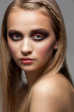 Woman with bright fashion makeup Stock Photo