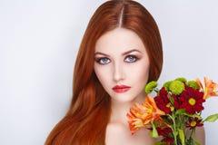 Woman bright hair royalty free stock photo