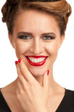 Woman with bright make-up Royalty Free Stock Image