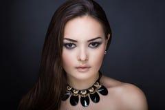 Woman bright make up Stock Photo