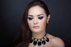Woman bright make up Royalty Free Stock Photos