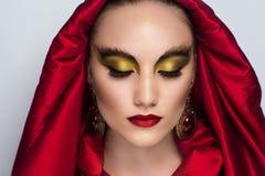 Woman bright make up Stock Photos