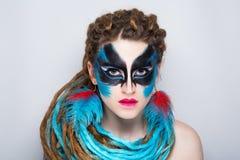 Woman bright make up Royalty Free Stock Image