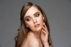 Woman with bright makeup Royalty Free Stock Images