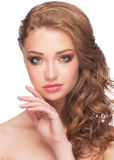 Woman with bright makeup Stock Photo