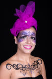 Woman with bright stylish make-up Stock Photo