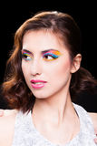 Woman with bright stylish make-up. Royalty Free Stock Photo