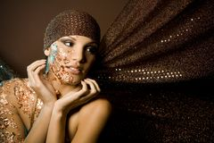 Woman in bronze Royalty Free Stock Photography