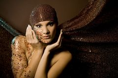 Woman in bronze Royalty Free Stock Image