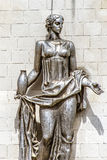 Woman bronze statue royalty free stock images