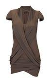 Woman brown dress Royalty Free Stock Image