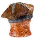 Woman brown fur beret hat Royalty Free Stock Photo