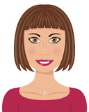 Woman with Brown Hair and Brown Eyes Royalty Free Stock Photo