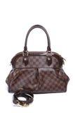 Woman brown leather handbag Stock Photos