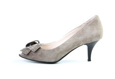 Woman brown shoe Stock Photography