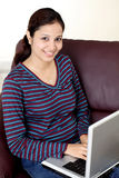 Woman browsing internet Stock Photography
