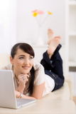 Woman browsing internet Royalty Free Stock Photography