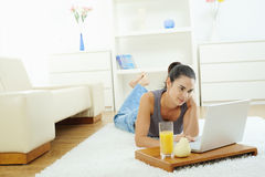Woman browsing internet Stock Photo