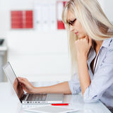 Woman browsing Stock Image