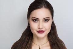 Woman brunette hair stock photography