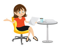 Woman Brunette Sitting Royalty Free Stock Photo