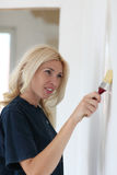 A woman with a brush Royalty Free Stock Photo