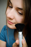 Woman with brush Stock Photography